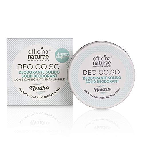 Officina Naturae DEO CO.SO. Neutro Senza Profumo Deodorante Solido Bio Plastic FRee Con Bicarbonato 50 ml