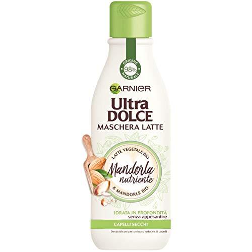 Garnier Ultra Dolce Maschera-Latte con Mandorla BIO, Idrata i Capelli senza Appesantire 250 ml