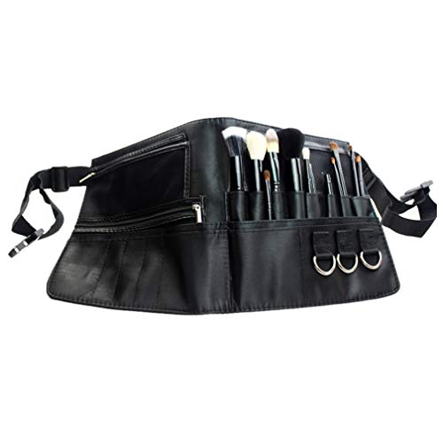 ONEGenug Borsa per pennelli da trucco, Borsa porta attrezzi per truccatori Portaspazzole cosmetico portatile a 22 tasche Con cinturino da cintura