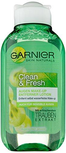 Garnier Clean & Fresh Occhi Struccante/absc hmink Medio rimuove wasserfestes Make Up (con estratto di uva) occhio aerztlich testato, 1er Pack–125ML