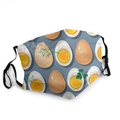 Uova tuorli e prezzemolo Regolabile Bocca Copertura Lavabile Maschera Viso Testa Sciarpa Passamontagna Riutilizzabile Collo Ghetta