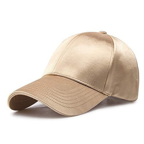 Berretto da baseball con coda di cavallo Hole mezza maglia del raso di seta della cupola del cappello di sport esterno della donna amanti estate berretti da baseball protezione solare del cappello di