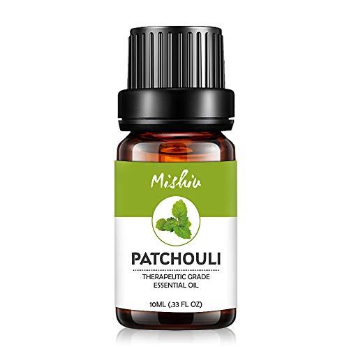 Mishiu Oli Essenziali di Patchouli Olio Essenziale Aromaterapia Puro al 100% Unilaterale SPA, Massaggio, Bagno Profumato,10ML - Patchouli