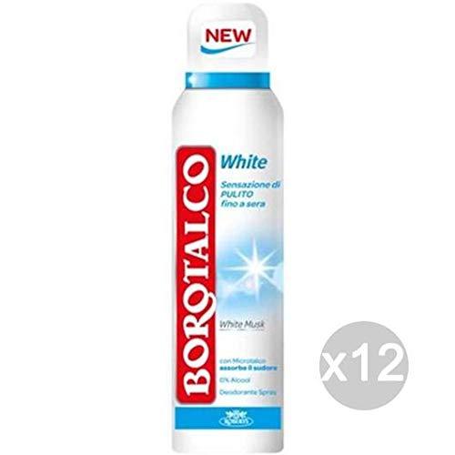 Set 12 BOROTALCO Deodorante Spray Invisib.White Musk Fresh Cura E Igiene Del Corpo
