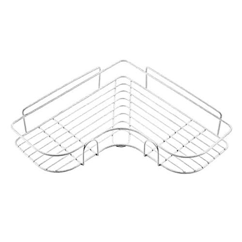 Mensola per Doccia da Bagno, Supporto per Doccia Sospeso Senza necessità di Perforazione Mensola per Asta Doccia con Fibbia E Gancio per Soffione (White)