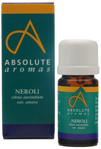 Absolute Aromas Olio Essenziale di Neroli 2 ml - 100% Puro, Naturale, Non Diluito, Vegano e Cruelty Free - Per Uso in Diffusori e Miscele per Aromaterapia