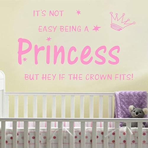 Adesivi da parete per cucina, arte del tatuaggio da parete, corona principessa Kids Nursery Gilr fai da te 70x45cm