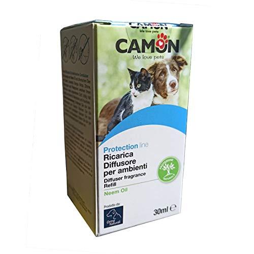 Camon Diffusore per Ambienti all'Olio di Neem sgradevole a Insetti e parassiti - Ricarica da 30 ml