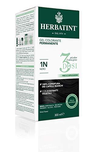 Herbatint Gel Colorante Permanente 3Dosi - 1N Nero 300ml
