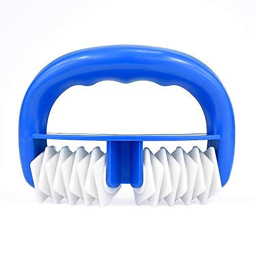 Locisne Spazzola del rullo del corpo,dispositivo di rimozione del massager cellulite, uso bagnato o asciutto,grande attrezzo di massaggio dello sport di Blaster della cellulite per rilascio (blu)