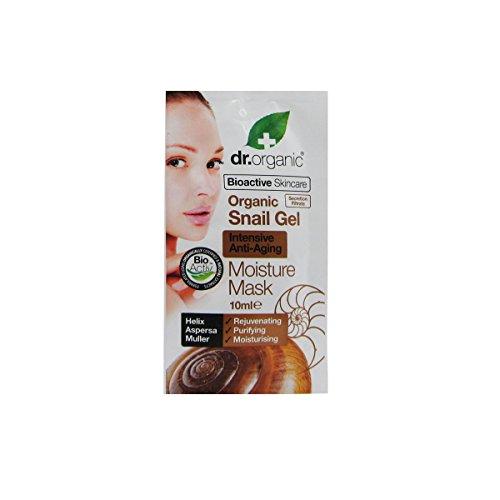 Dr.Organic snail gel maschera viso idratante in grado di ridurre le rughe grazie alla formula a base di bava di lumaca, in combinazione con una miscela esclusiva di estratti ed oli naturali e bioattivi.