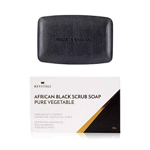 Revitale African Black Natural Oat Scrub Soap - Pure Vegetable