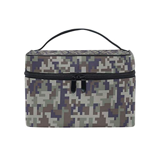 Borse per cosmetici Travel Makeup Cosmetic Bags Army Desert Digital Camo Toiletry Bags Makeup Suitcase
