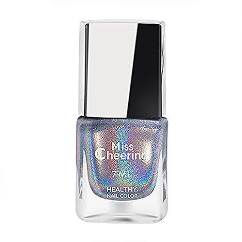 Homeit Holographic Starry Shimmer smalto smalto, smalto per unghie iridescente Nessuna cura a LED necessaria, glitter lucido halo lucido smalto per unghie per unghie per unghie a lunga durata