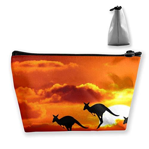 Osmykqe Kangaroo Sunset Australia Travel Toiletry Bag for Women And Men