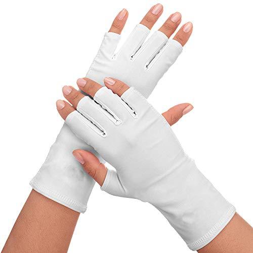 Xiton 1Pair Nails UV Shield Glove Anti Uv Glove Sunblock Protezione Shield Guida Guanti Manicure Nail Art Dryer Tools