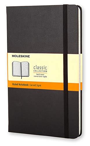 Moleskine Notebook Classic- Copertina Rigida - Taccuino a Pagine Rigate, Large, Nero