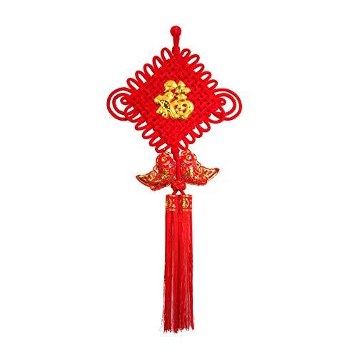 DONGTAISHANGCHENG Nappe Nodo Cinese Tatuaggi Fu Festa di Primavera Cinese della Decorazione della casa Tradizionale Ornamentale Nodo Nappa Cinese Nodo Rosso Nodo Cinese (Size : Small)