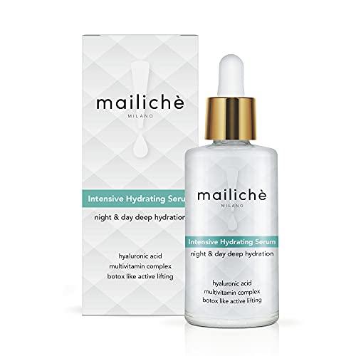 MAILICHÈ Siero Viso 60ml con Acido Ialuronico, Vitamina A-B5-C-E, Botox-Like Active Lifting. Idratante, Idro-Ristrutturante, Antiossidante, Effetto Rimpolpante, Anti-Age. MAXI-FORMATO. Made in Italy