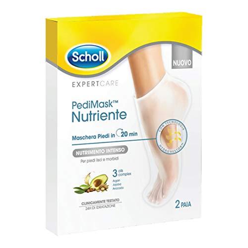 Dr. Scholl Pedimask Maschera Piedi Nutriente 3 Olis Complex, 2 Paia