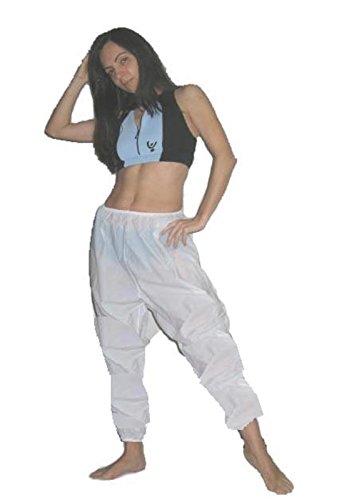 Vetrina del Benessere Pantalone Effetto Sauna -Bianco, Tg.1 (Italia 42-44)- Pantalone Dimagrante per Sudorazione in Morbido PVC, Pantaloni Dimagranti per Sudare - Unisex Uomo Donna