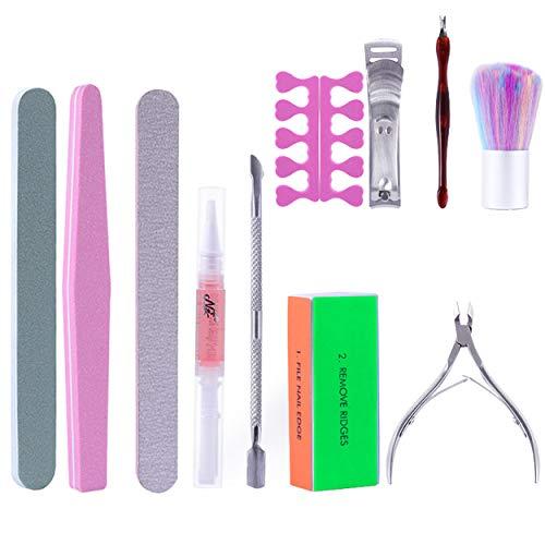 Kit di strumenti per manicure Set di strumenti per nail art 11 pezzi, Durable Manicure Tools con tronchesi per cuticole, Lima per unghie e Buffer, Taglia cuticole con spingi cuticole per pelle morta