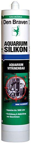 Den Braven, CSS33A105005, Acquario silicone 300 ml di acqua dolce e salata resistenti, ad alta elasticità, in silicone acquario Made in Europe, nero