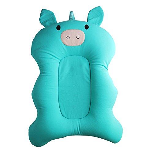 Lulalula cuscino da bagno da bambino, neonato comodo cuscino per sedili Cartoon morbido antiscivolo vasca doccia Toddler supporto sedile Pad sicurezza cuscino estate lavello per 0–6mesi