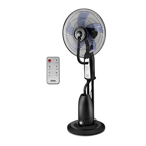 Ufesa MF4090 Ventilatore Nebulizzatore, Telecomando, 3 modalità, Timer 7.30 h, Diametro 40 cm, Nero