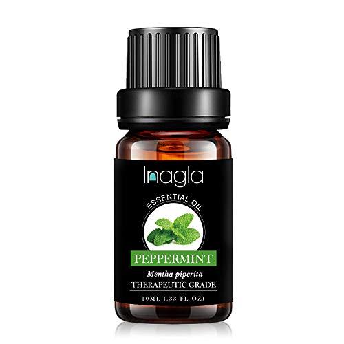 Inagla Olio Essenziale di Menta piperita,Oli Essenziali Aromaterapia Puro al 100%,10ML - Peppermint