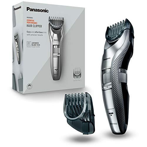 Panasonic ER-GC71-S503 Regolabarba e Tagliacapelli, 38 Lunghezze di Taglio da 1 a 20 mm, Lavabile, Taglio di Precisione, Argento