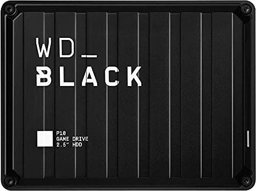 WD_BLACK P10 Game Drive 5 TB, HDD Portatile per Accesso in Mobilità alla tua Libreria di Giochi, Compatibile con Console o PC