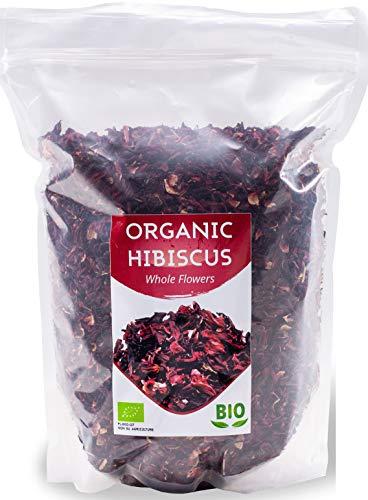 Fiori di Ibisco Biologici Egiziano | Qualità Premium | 1Kg BIO Hibiscus | Petali Grandi Tè Sfuso