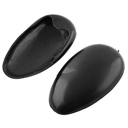 sourcingmap® Coppia copri orecchi di pastica nera barbiere per non sprcare con tinta per capelli
