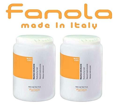 2X Maschera Ristrutturante Fanola Nutri Care - 1500 ml
