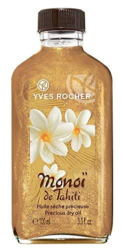 Yves Rocher, Monoi de Tahiti (100ml):olio glitterato per il corpo dall'odore dei fiori di Tiaré, con componenti di origine vegetale