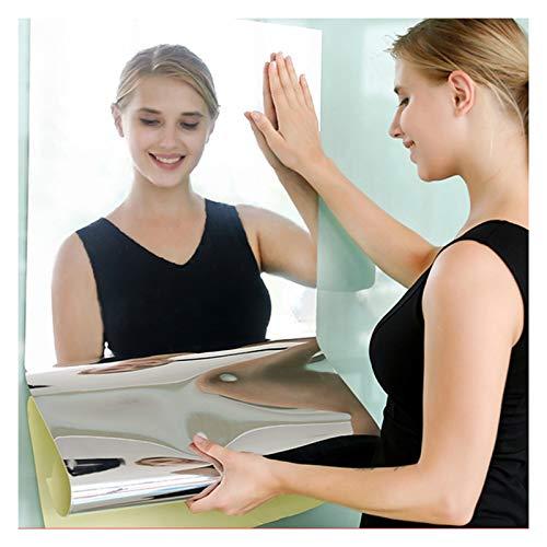 Adesivi da parete flessibili a specchio, in plastica morbida, non in vetro, autoadesivi e impermeabili, per casa, soggiorno, camera da letto