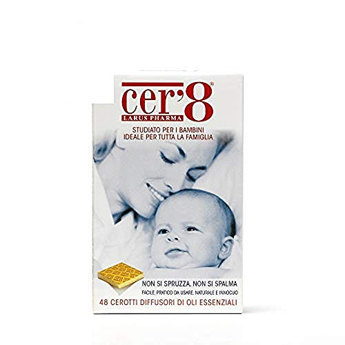 Larus Pharma Cer'8 Cerotti Diffusori di Oli Essenziali Puri Micro Incapsulati di Citronella e Eucalyptus Citriodora - 25 g