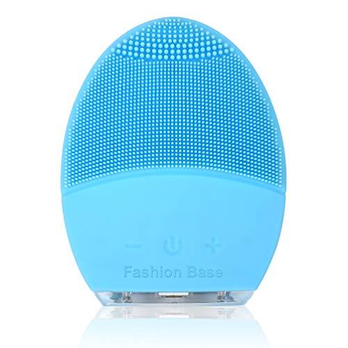 Spazzola per la pulizia del viso e massaggiatore, in silicone, a ultrasuoni vibrante, impermeabile, ricaricabile e sonico, esfoliante elettrico per la pulizia del viso, anti-invecchiamento