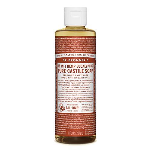 DR BRONNERS - Sapone liquido biologico all'eucalipto Castiglia, 237 ml, confezione da 1