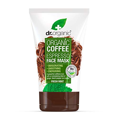 Dr. Organic Coffee Espresso Face Mask, Maschera Viso Al Caffè - 200 Gr