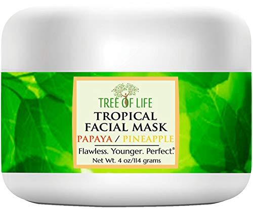 Tree of Life Beauty Anti Aging Tropical Maschera per il viso - Papaya Organic, Ananas biologica, Aloe biologica - Skin Care Maschera