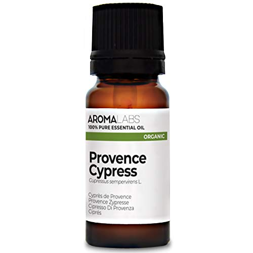 Aroma Labs Cipresso Di Provenza Bio - 10Ml - Olio Essenziale Bio E Naturale Al 100% - Qualità Verificata Mediante Cromatografia - Aroma Labs - 10 ml