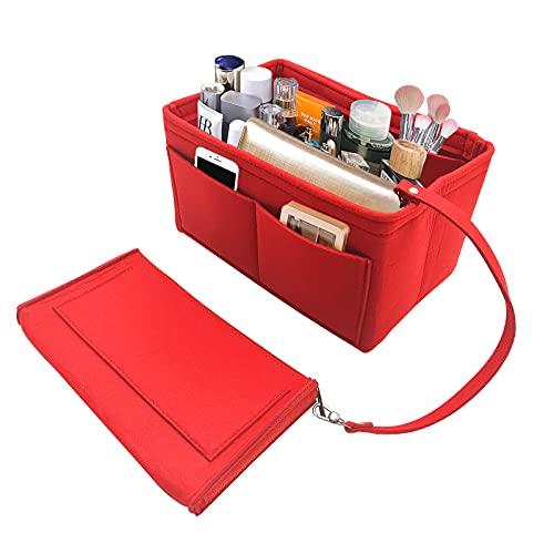 Borsa organizer organizzatore interno purse, Organizer borsa donna feltro, Trousse trucchi,con borsa rimovibile,Alta capacità