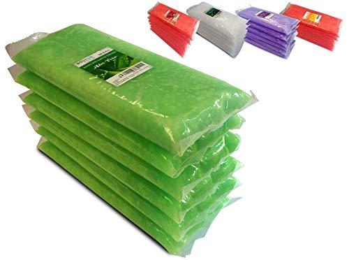 Boston Tech BE106-A Pura cera di paraffina 3 Kg. 6 blocchi da 500g C / u. Ideale per qualsiasi bagno di paraffina. Uso terapeutico ed estetico. Aroma Di Aloe Vera