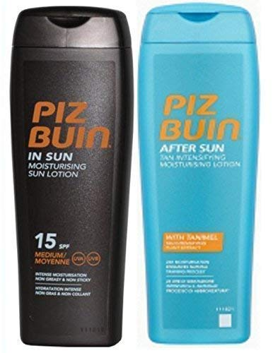 Piz Buin in Sun Lozione SPF 15 200Ml & Tan Intensifier Doposole 200Ml