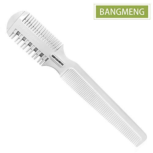 BANGMENG, pettine con rasoio per sfoltire i capelli, per doppie punte, per capelli sottili e spessi, per taglio e acconciatura