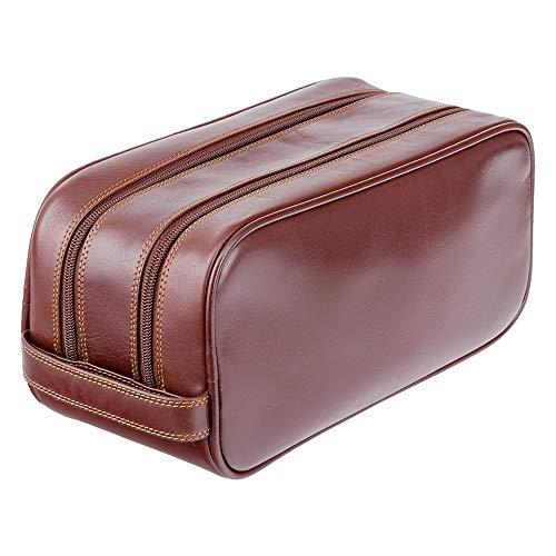 Visconti necessaire da viaggio in pelle per cosmetici da uomo'Heritage' Luxury Leather Travel Kit (HT100): (VT marrone (vintage Brown))
