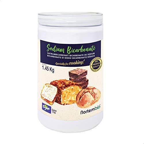 Nortembio Bicarbonato di Sodio Biologico 1,45 kg. Uso Alimentare. Speciale per Cucinare. Qualitá Premium. E-Book Incluso.