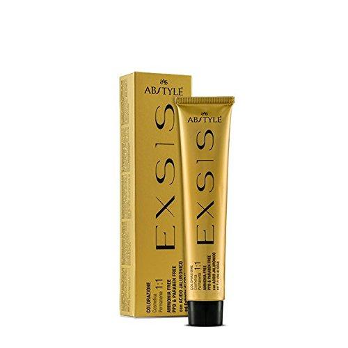 Ab Style | Exsis – Colorazione Cosmetica Permanente per capelli con estratto di bacche di goji e acido jaluronico, privo di ammoniaca,biondo chiaro dorato rame 8.34(100ml)